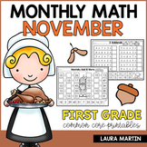 November Math Worksheets - First Grade