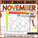 November Math Worksheets | First Grade
