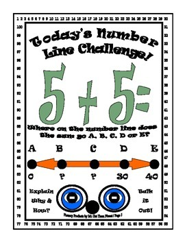 Math Number Sense Challenge Activity Gifted First Grade