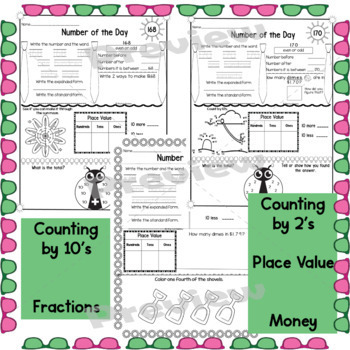 First Grade Math Number of the Day Activities June
