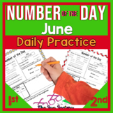 1st Grade Math Number of the Day Activities June PRINT and GO