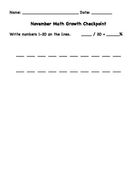 First Grade Math Numbers Test