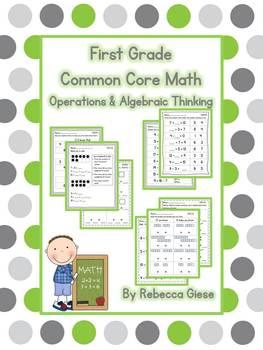 First Grade Math {Operations & Algebraic Thinking}