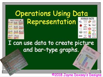 First Grade Math Operations Analyzing  Data
