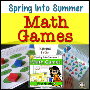 First Grade Math Partner Games for Spring and Summer