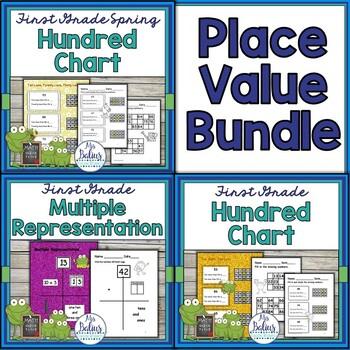 Place Value Hundred Chart Bundle First Grade Math
