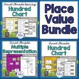 Place Value Bundle First Grade Math Hundred Chart Multi Representation