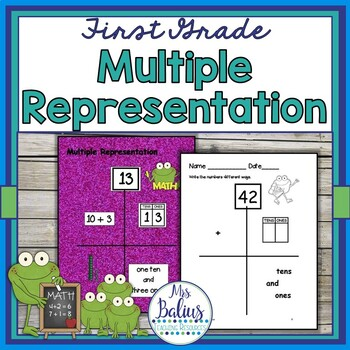 Number Combinations {Frog Math} First Grade Math Multiple Representation