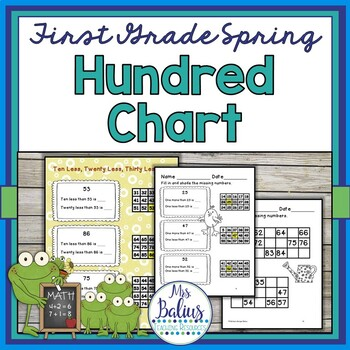 First Grade Math Place Value Hundred Chart Spring Edition
