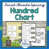 Spring First Grade Math Place Value Hundred Chart Spring Edition