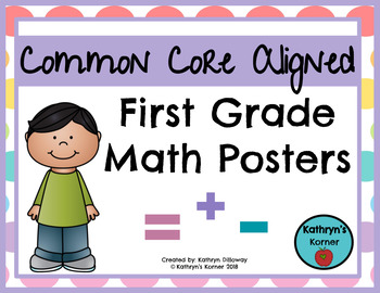 First Grade Math Posters [CCSS Aligned]