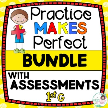 First Grade Math Practice and Assessments Bundle