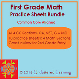 First Grade Math Practice Sheets Set Bundle