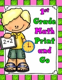 First Grade Math Print and Go