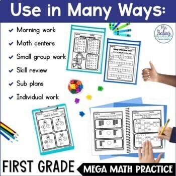 Problem Solving Eleven Add & Subtract Types 1.OA.1 Mega Math Practice Bundle