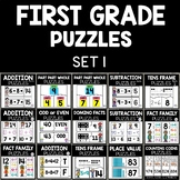 First Grade Math Puzzles Set 1