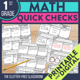 Math Exit Tickets for 1st Grade | Printable and Digital Ch