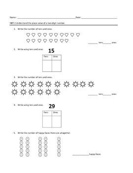 First Grade Math Quiz: NBT2