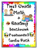 First Grade Math & Reading Benchmark Assessments For The Year Combo Pack
