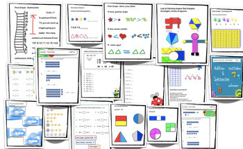 First Grade Math Review Common Core Aligned