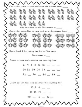 First Grade Math Review Printables