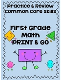 First Grade Math Review Printables