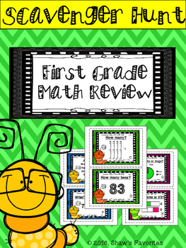 First Grade Math Review Scavenger Hunt