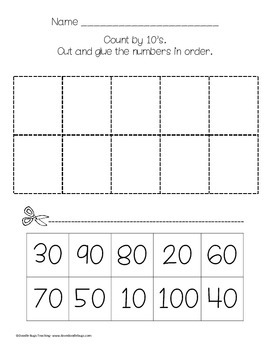 First Grade Math Review Sheets Part 1: number words, numbers to 100