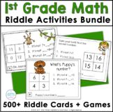 First Grade Math Addition and Subtraction Riddle Activities