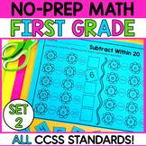 First Grade Math Worksheets-SET 2