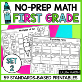 First Grade Math Worksheets SET 2 | Distance Learning | Go