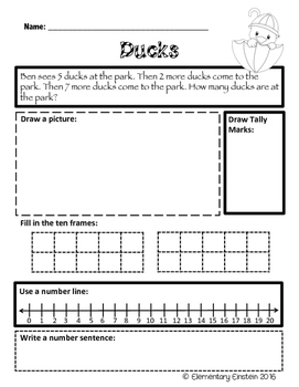 First Grade Math SPRING Word Problems NO PREP