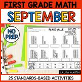 September Math Worksheets   First Grade
