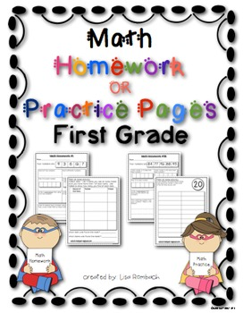 First Grade Math Skills Homework Sheets or Practice Pages