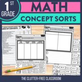 Sorting Activities for First Grade | Concept Sorts