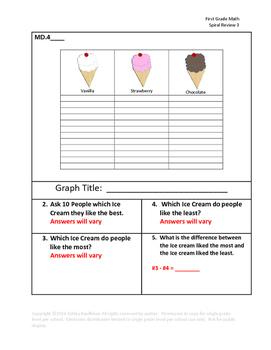 First Grade Math Spiral Review 3