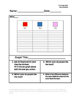 First Grade Math Spiral Review 6
