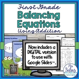 First Grade Math Spring Balancing Equations-Addition CC 1.OA.3, 1.OA 6