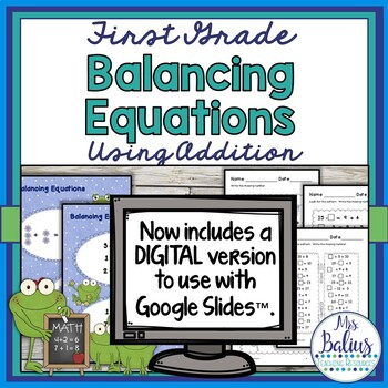 First Grade Math Spring Balancing Equations-Addition 1.OA.3, 1.OA 6