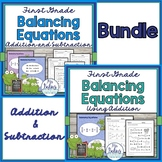First Grade Math Balancing Equations Bundle
