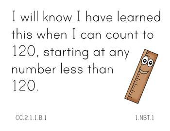 First Grade Math Standards