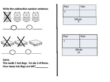 Camping Theme First Grade Math Subtraction Concepts