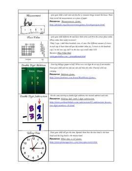 First Grade Math Summer Resources