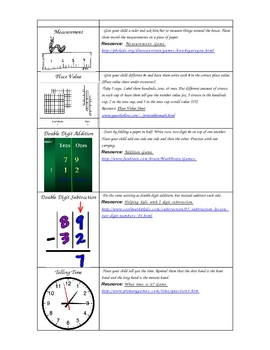First Grade Math Summer Resources