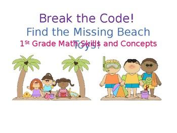 First Grade Math Summer Themed Escape Room