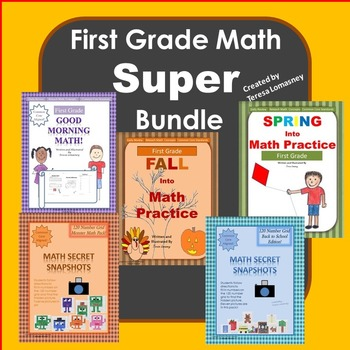First Grade Math Super Bundle {Common Core}