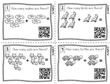First Grade Math Task Cards: Addition
