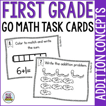 First Grade Math Task Cards: Addition