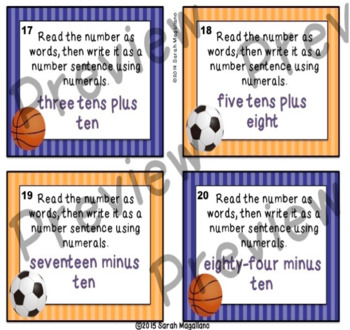 First Grade Math Task Cards BUNDLE