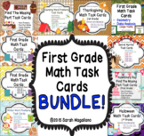 First Grade Math Task Cards BUNDLE